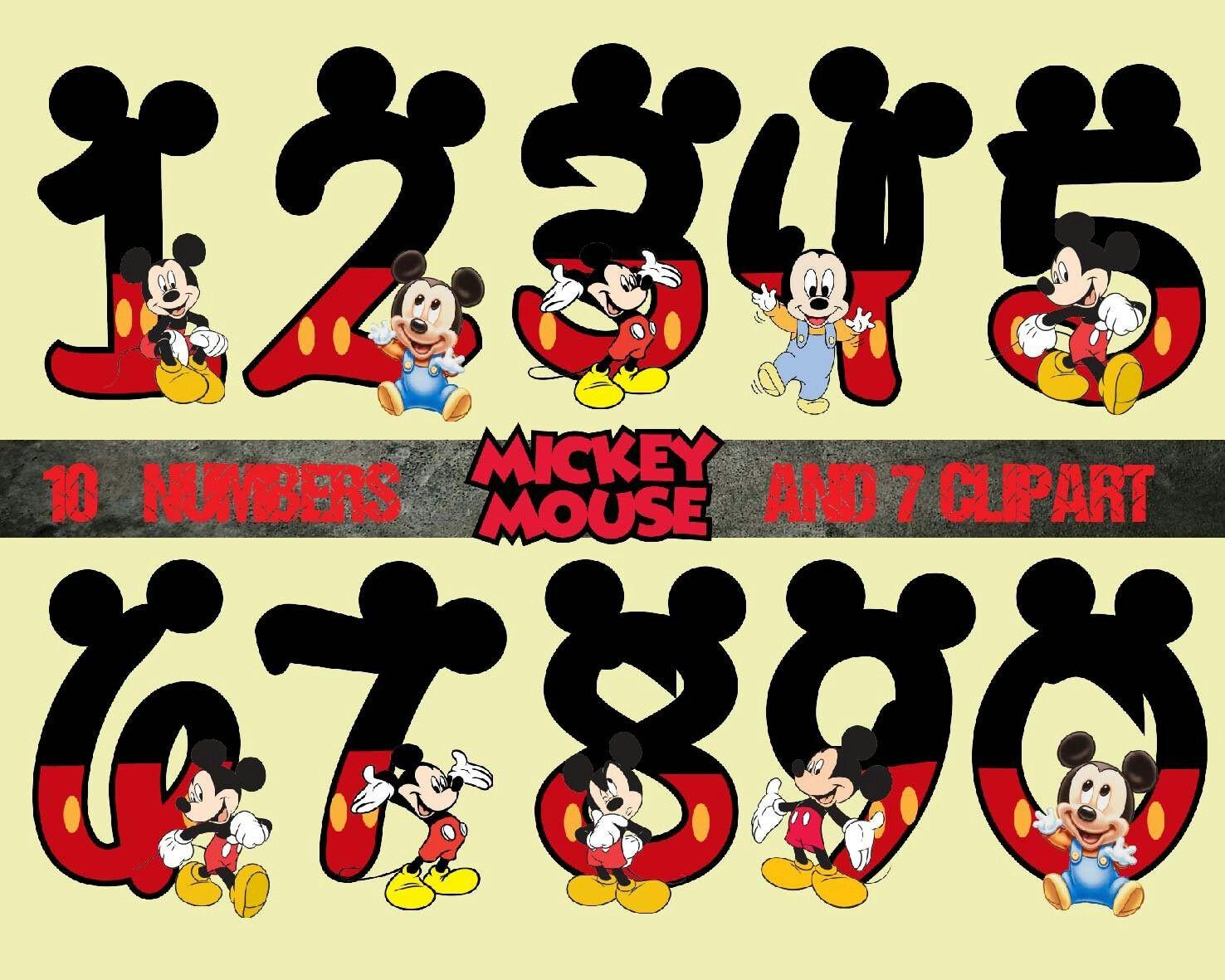 Pin By Mercedes Carrillo On Numero Para Ninos Mickey Mickey Mouse Disney Printables