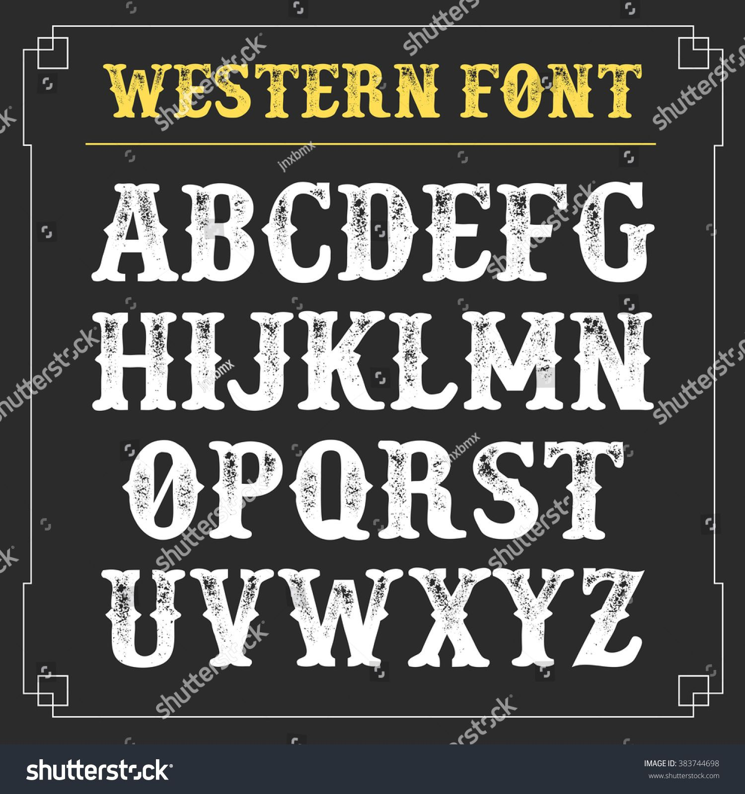 Western Retro Alphabet Vector Background Vintage Typography Sponsored Ad Alphabet Retro Western In 2020 Lettering Alphabet Brush Script Lettering Western Font