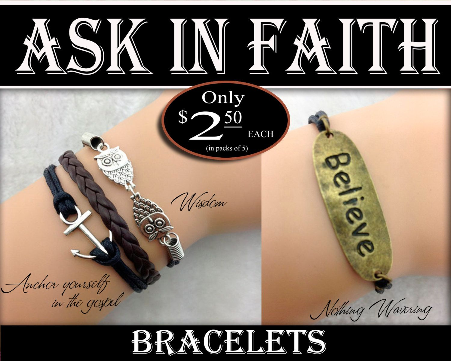 Bracelets Yw 2017 Ask Of God Ask In Faith Young Women
