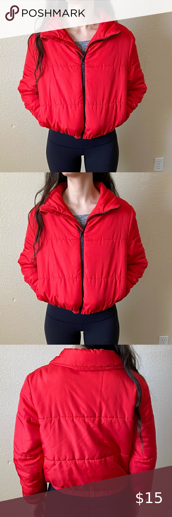 Wild Fable Red Puffy Jacket Puffy Jacket Red Puffer Jacket Coats Jackets Women [ 1740 x 580 Pixel ]