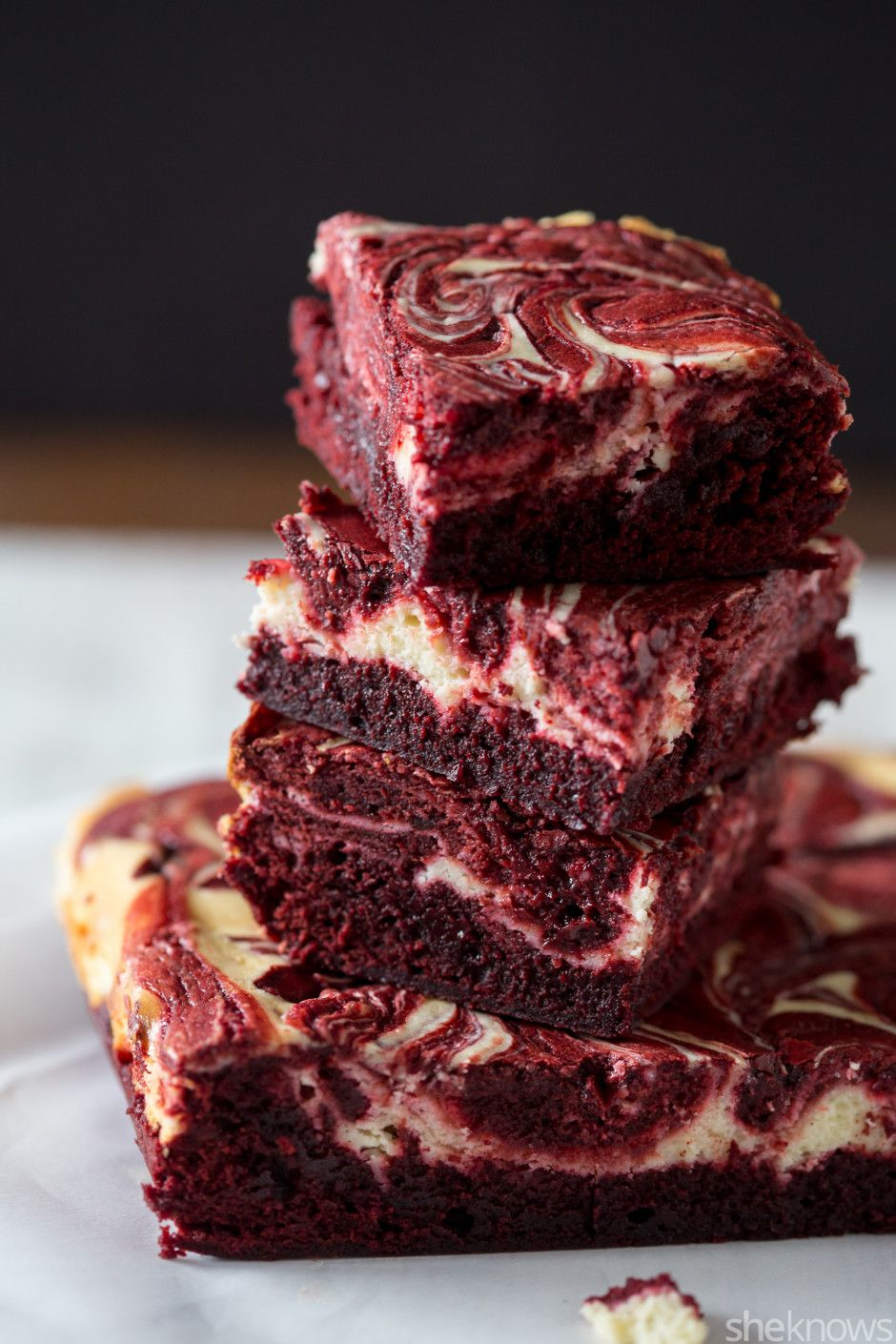 Red velvet and cheesecake make these brownies an over-the ...