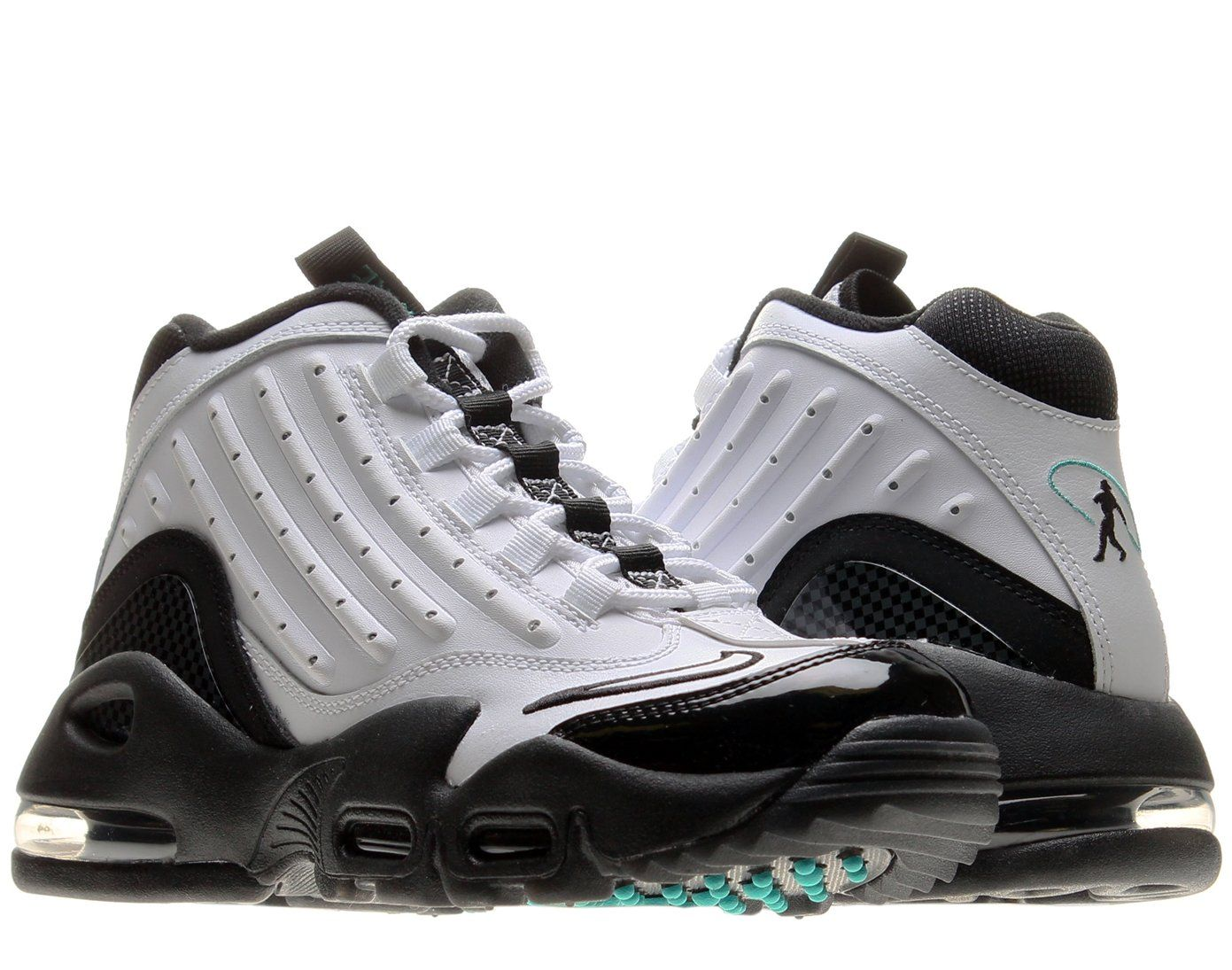Nike Air Griffey Max II (GS) Boys Cross Training Shoes 443957-100 White 5 M US. Nylon upper. Ankle support strap. Rubber flex grooves. Max Air unit at the heel. Rubber outsole.