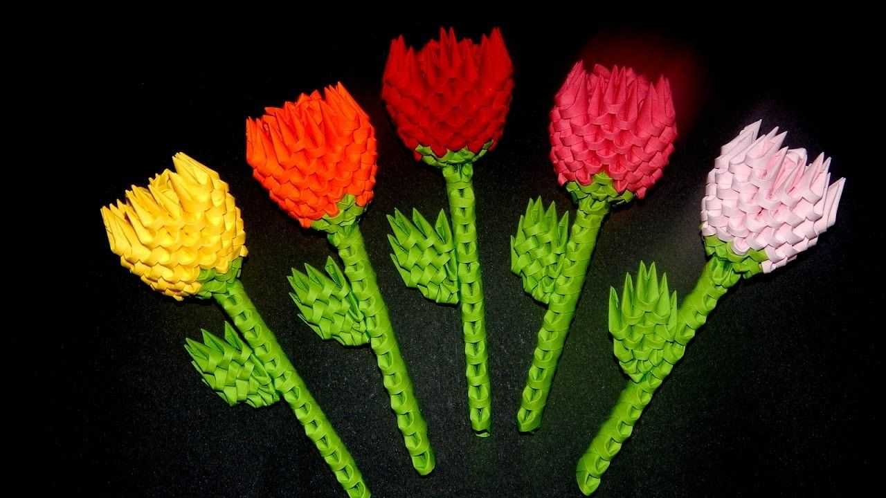 3d Origami Small Flower Tutorial D Diy And Crafts And Origami
