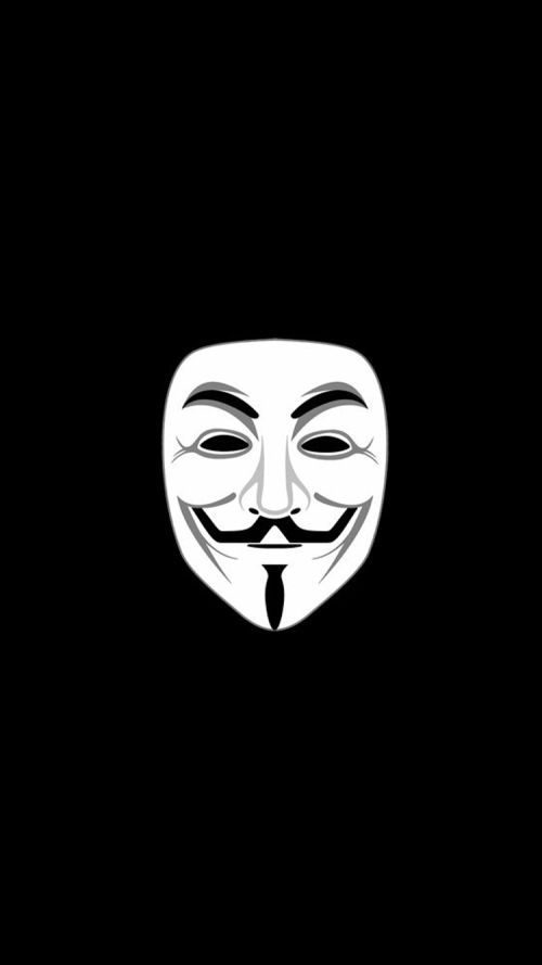 Apple IPhone 6 HD Wallpaper With Anonymous Mask Dark Background Anonymousmask Anonymousmaskwallpaper