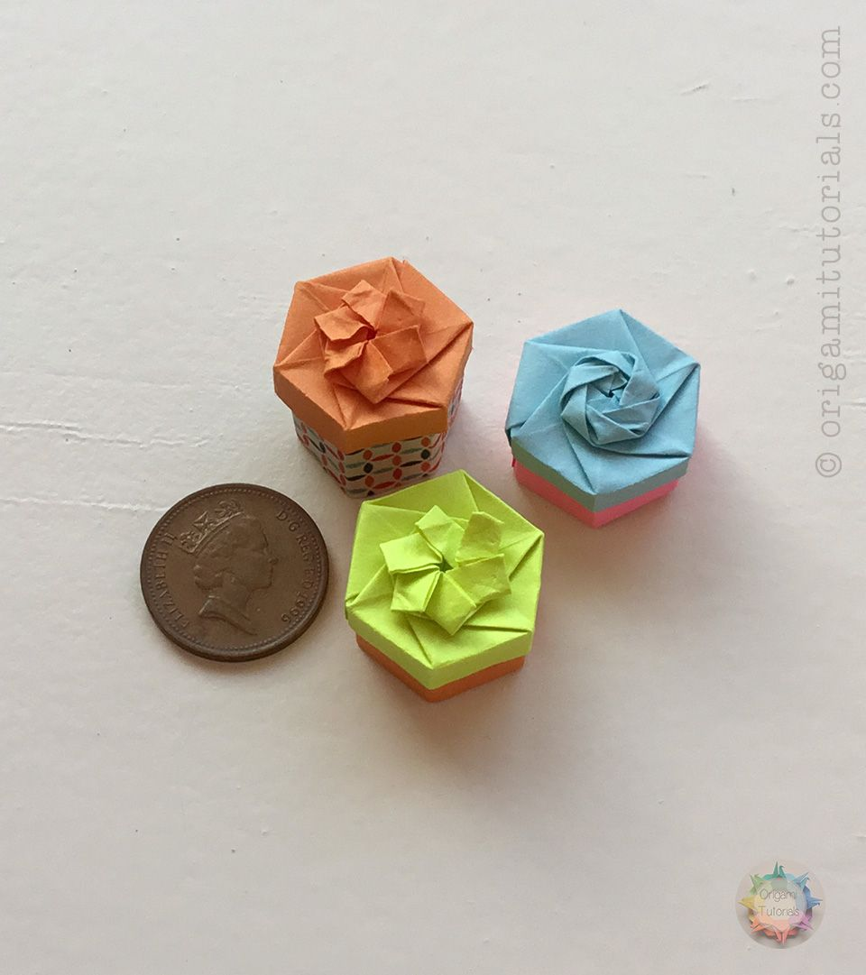 small resolution of origami miniature hexagonal box origami tutorials
