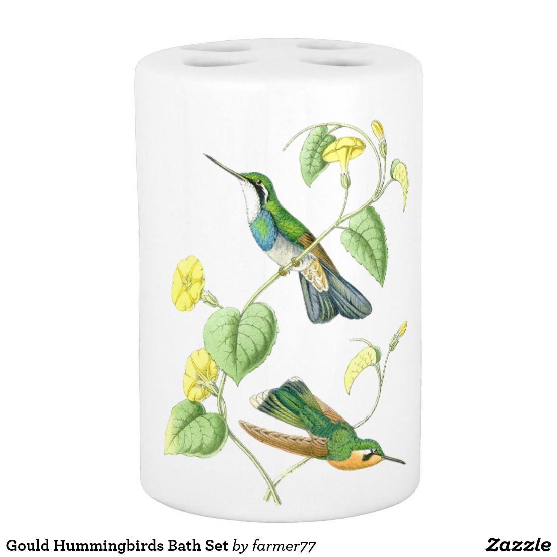 Gould Hummingbirds Bath Set