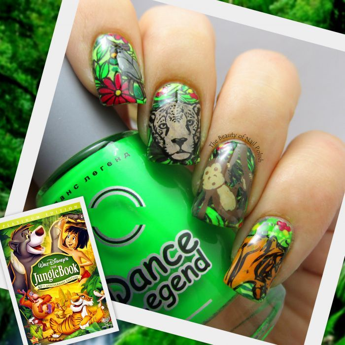 The Jungle Book - MoYou London Mother Nature 08, MoYou London Suki 01, MoYou London Tropical 02 and Infinity Nails 120