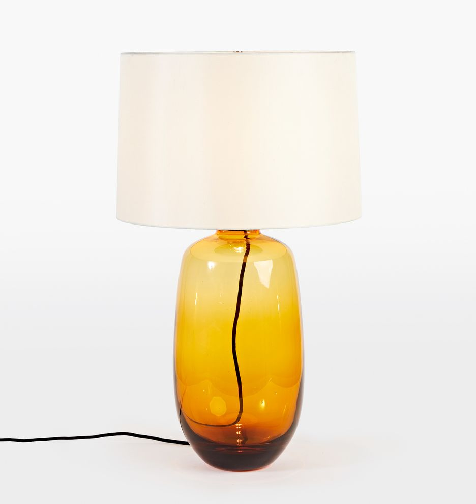 Audrey Smoke Glass Table Lamp With White Silk Shade Rejuvenation Glass Table Lamp Table Lamp Glass Table