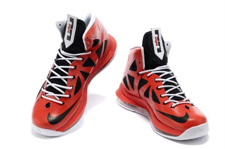wholesale dealer d6354 529f2 Nike Air Max Lebron 10 X Red Black White Shoes