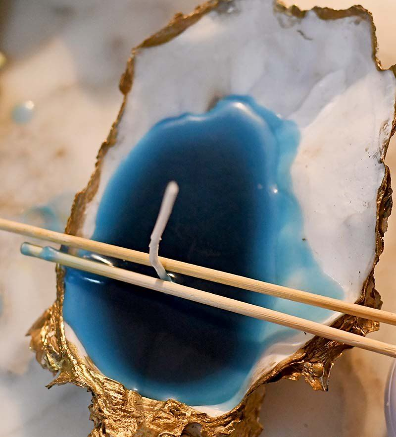 How to Make Glamourous Oyster Shell Candles DIY