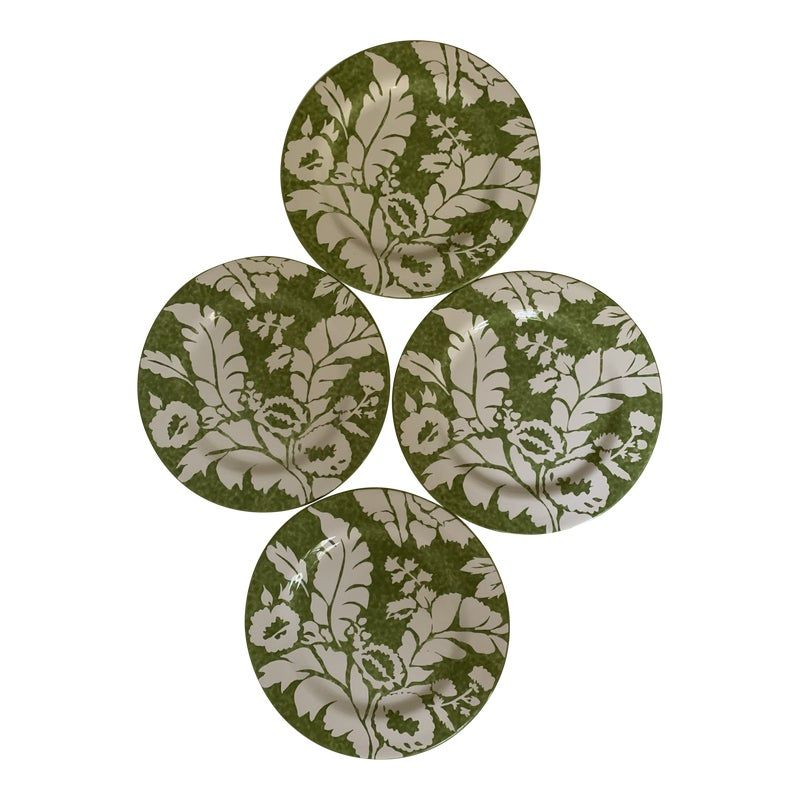 A set of 4 (four) Roscher AMBIANCE collection green dinner plates.  10-3/4