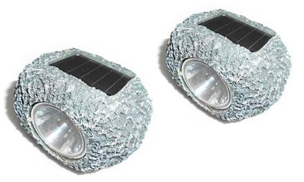 Without the use of extension cords or batteries, solar-powered garden rocks can illuminate pathways, flowers, or decorations in your yard