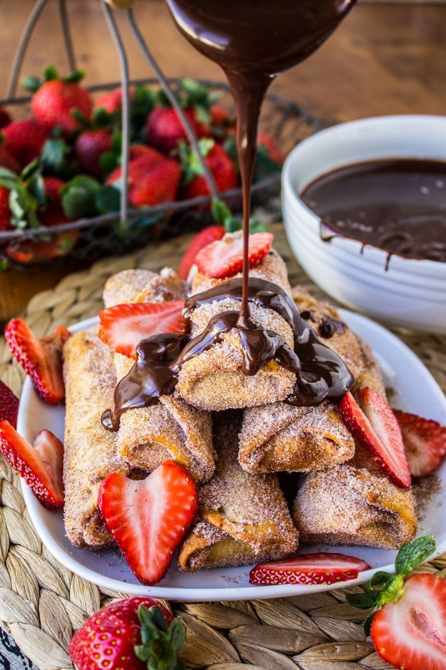 Photo of Banana Churros with Chocolate Peanut Butter Sauce – The Food…