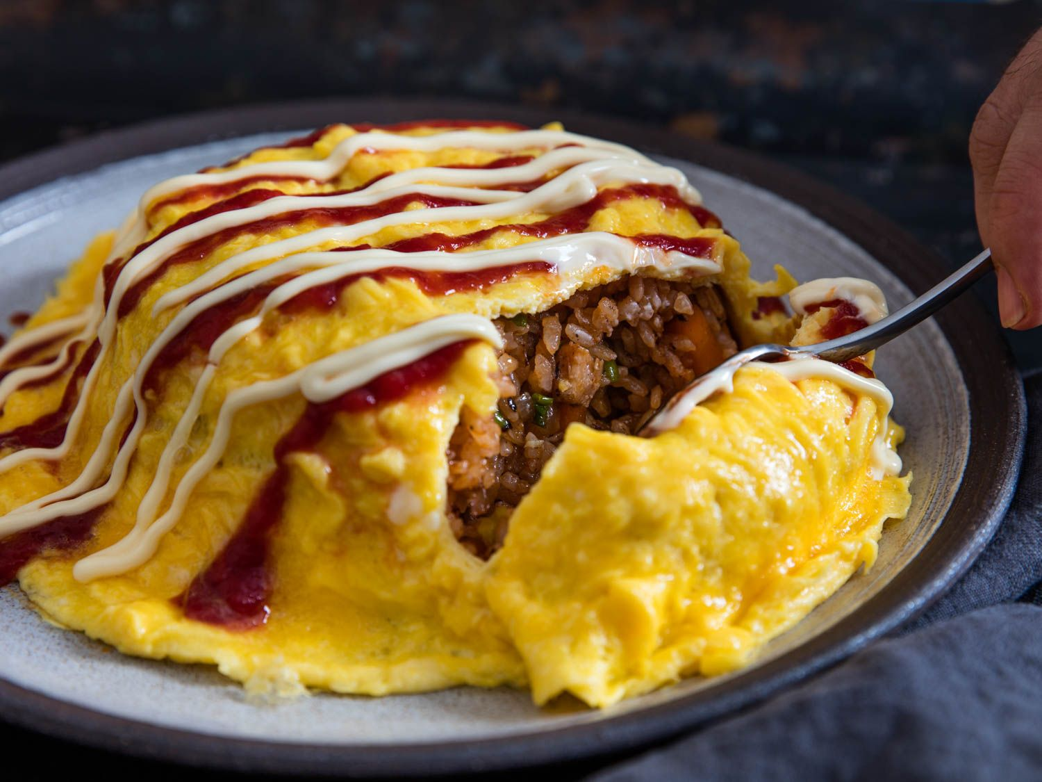 How To Make Omurice Japanese Fried Rice Omelette Omurice Recipe Food Omurice