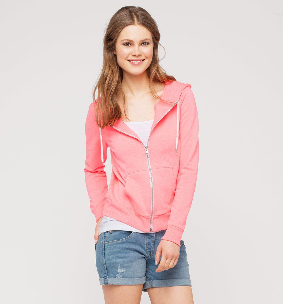 CLOCKHOUSE Kapuzen-Sweatjacke in pink / pink - Mode günstig online kaufen - C&A