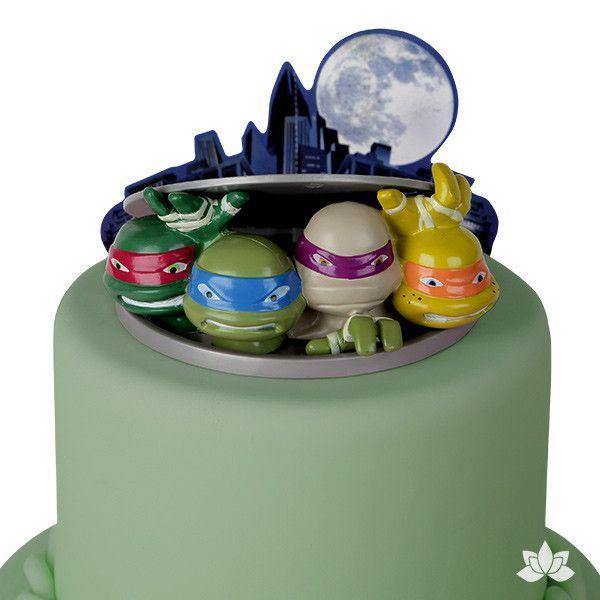 Teenage Mutant Ninja Turtles To Action Cake Decoration Set Cake Decorating Set Tmnt Cake Ninja Turtle Cake Topper