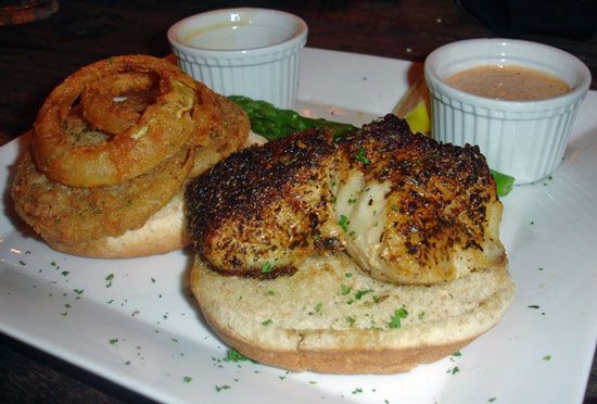 Grilled Grouper With Fried Green Tomatoes |