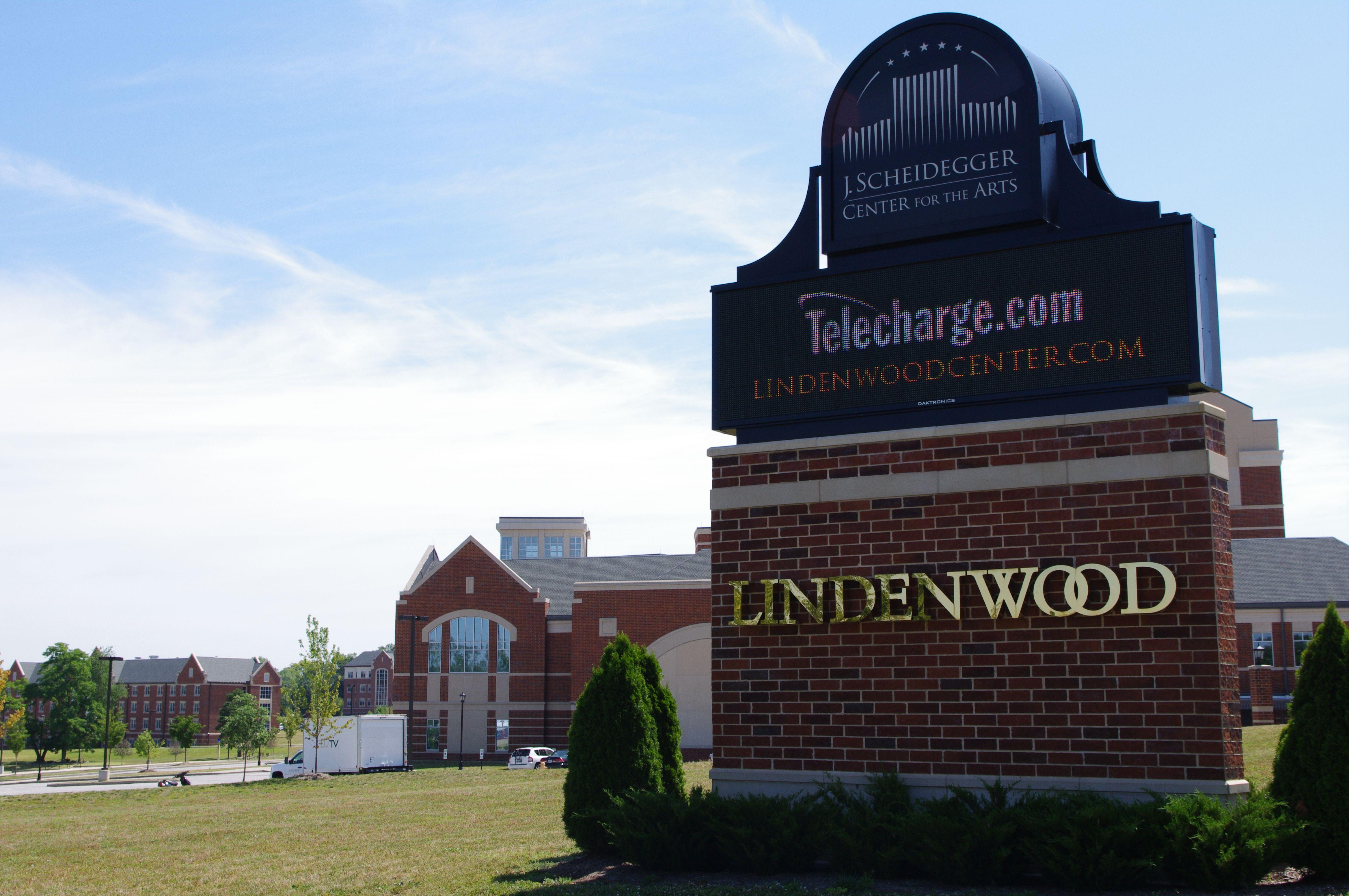 Promotional board for The J. Scheidegger Center | www.lindenwood.edu