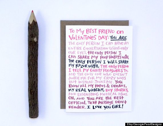 17 Awesome Valentine S Day Cards For Every Bff In Your Life Bff Valentines Card Friends Valentines Day Best Friend Valentines