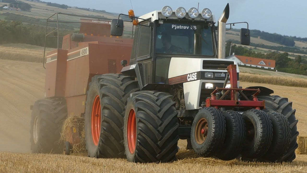Case 2294 Baling Big Bales W Hesston 4900 Baler Pure Sound Harvest Classic Tractor Pure Products Hesston