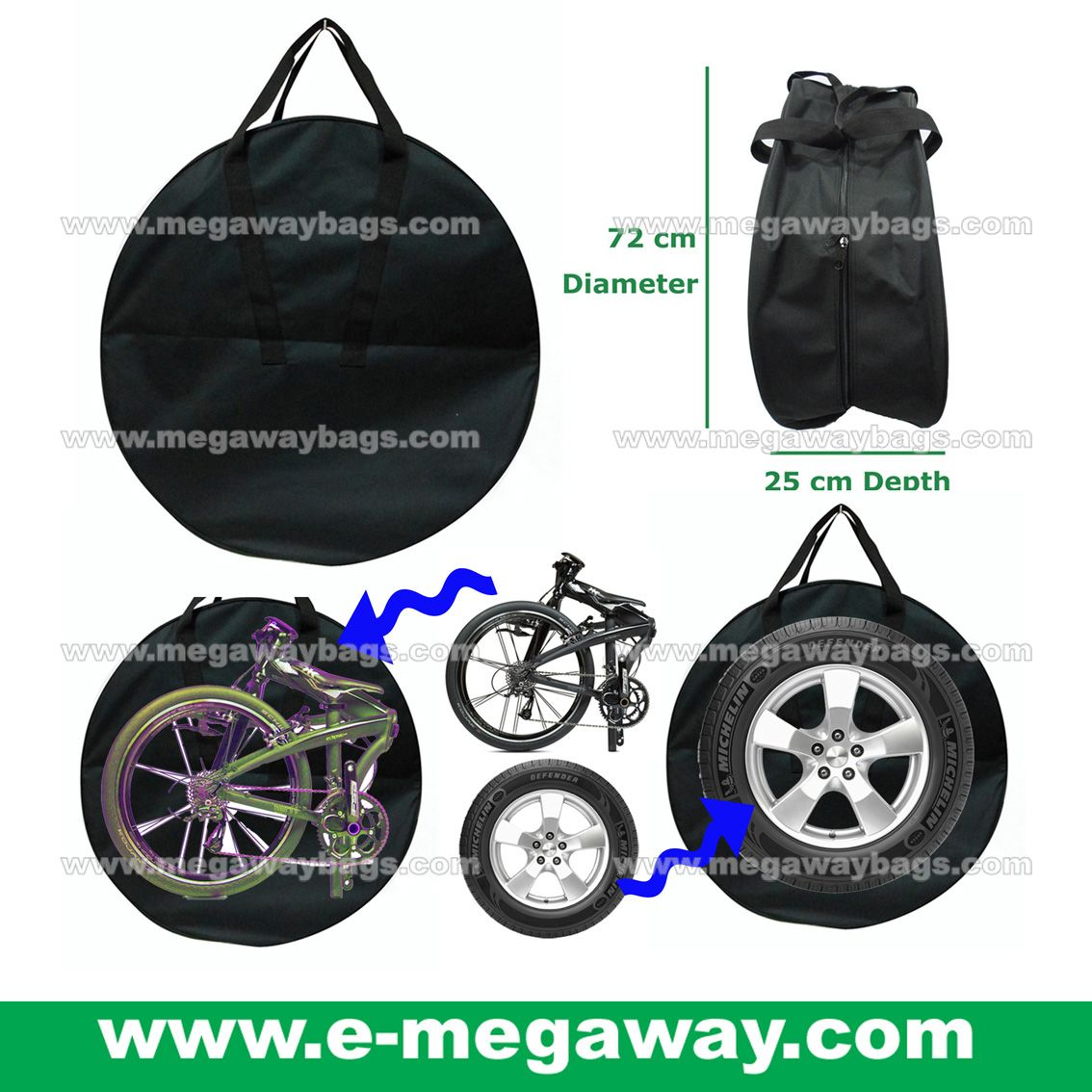 Big Durable Tough Bag Cycling Protective Cover Bags Bicycle Storage Tools Gear Bag Motor Motorcycle Bike Bmx Car Racing Gear Gear Bag Bags