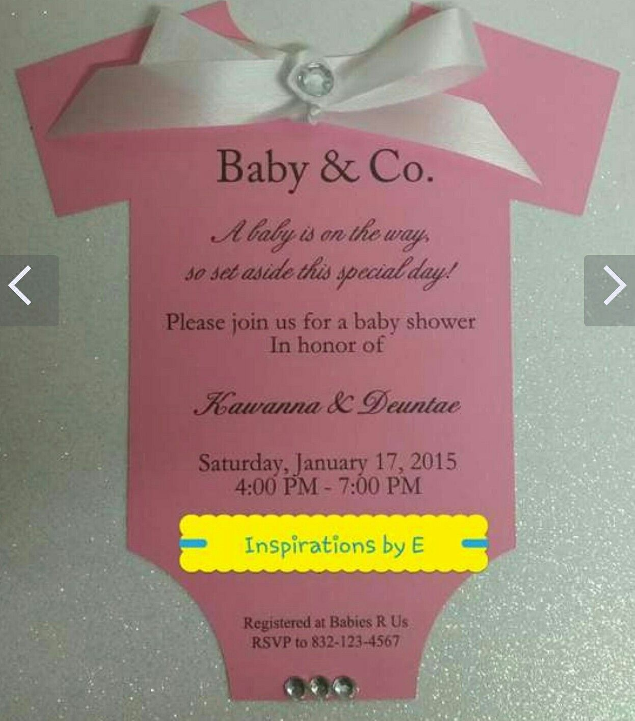 Magnificent Baby Shower Onesie Invitation Component - Invitations ...