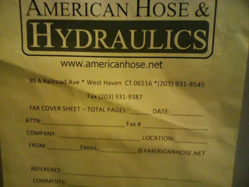 Hose and hydrolics is amazing great staff and low prices - chase fax cover sheet