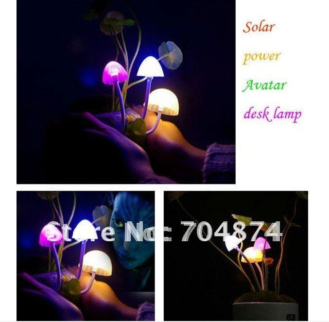Children creative mushroom table lamp/solar Avatar mushroom lamps,solar Avatar light,automatic light control,gift