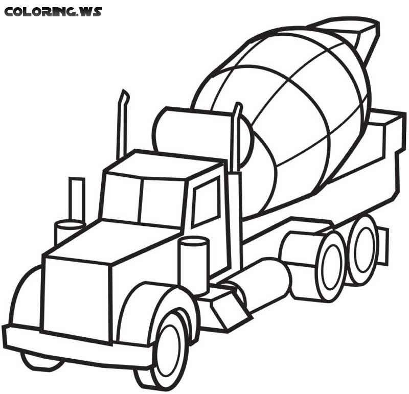 Destruction Truck Coloring Page Truck Coloring Pages Carl Benz