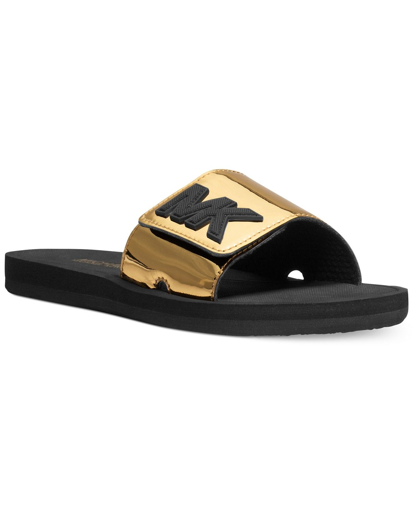 27f9b9d401e1 MICHAEL Michael Kors MK Shower Slide Sandals - Sandals - Shoes - Macy s