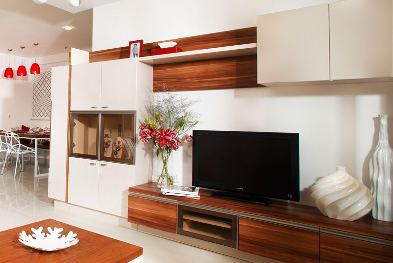 entertainment unit Purva Highlands SAVIO and RUPA Interior