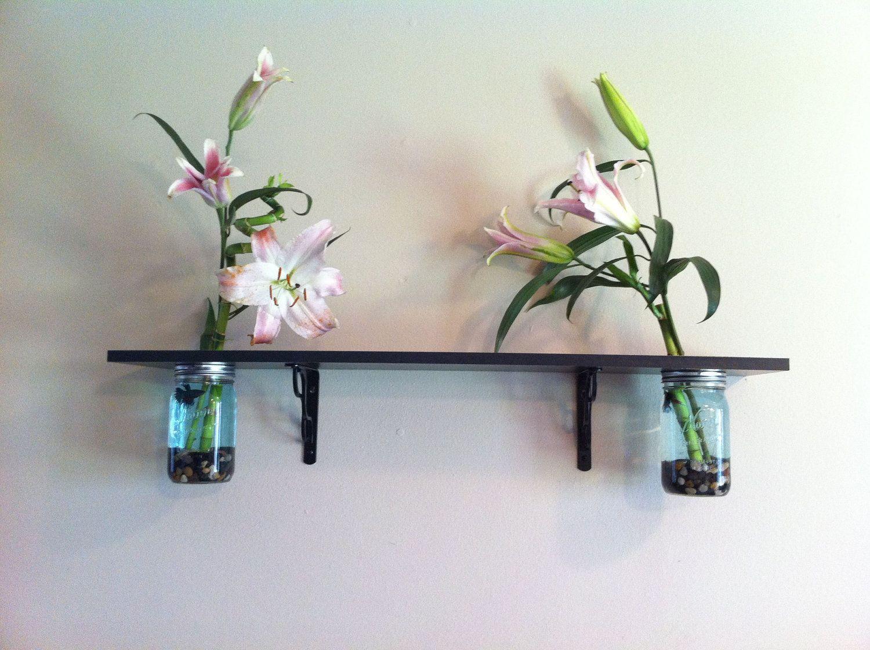 Mason Jar Fish Tank & Vase Shelf. $100.00, via Etsy.