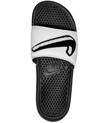 dd8ff8f177fab5 Nike Men s Benassi Jdi Chenille Slide Sandals from Finish Line - Black 7