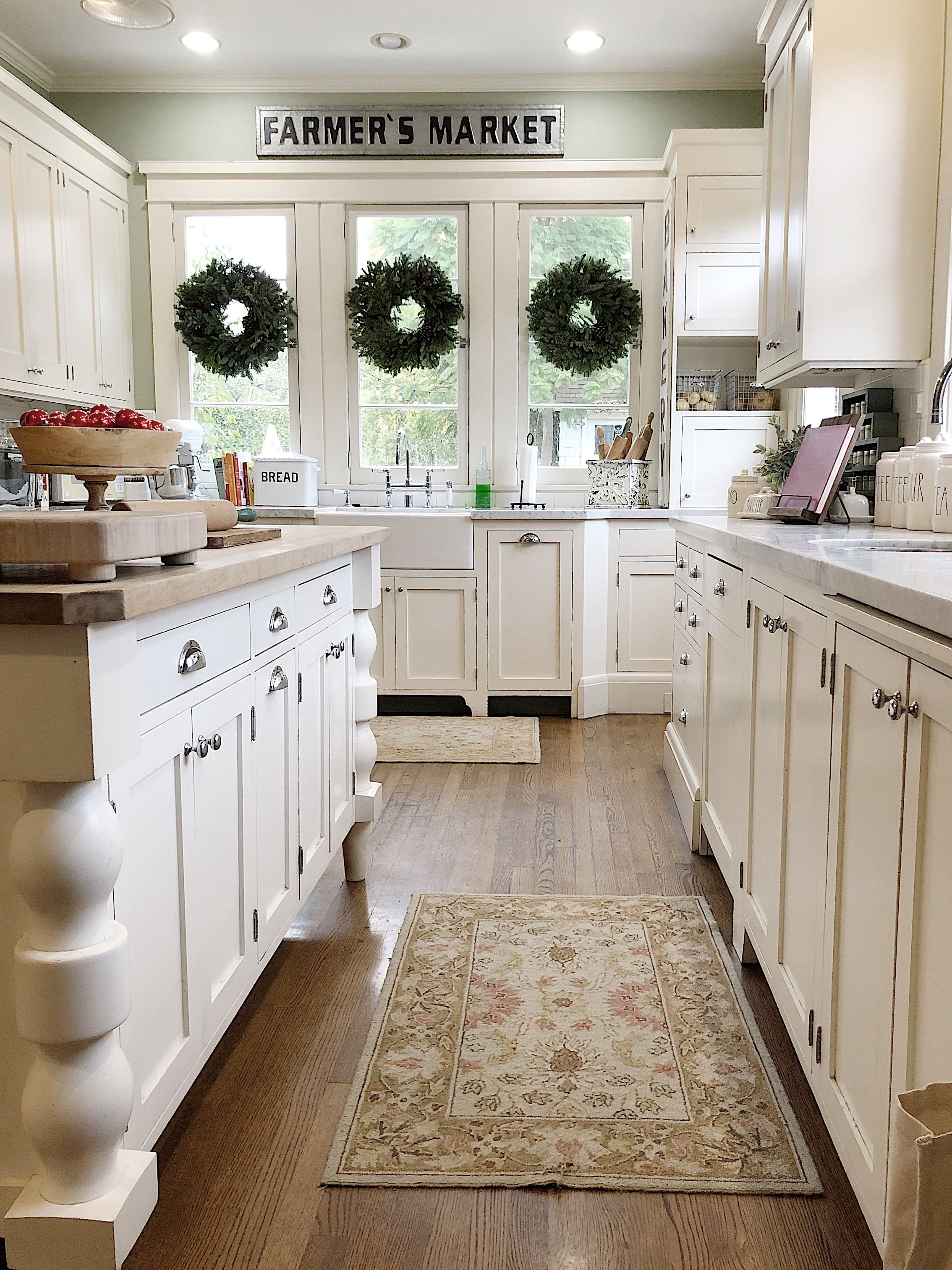 As  sit here and realize our house is finally decorated for the holidays also  christmas kitchen tour my year old home rh pinterest
