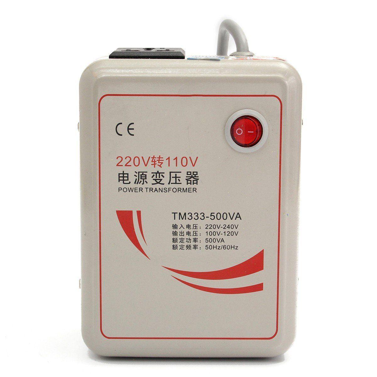 AC 220v To 110v 50//60Hz 500w Step Down Voltage Converter Transformer Converts