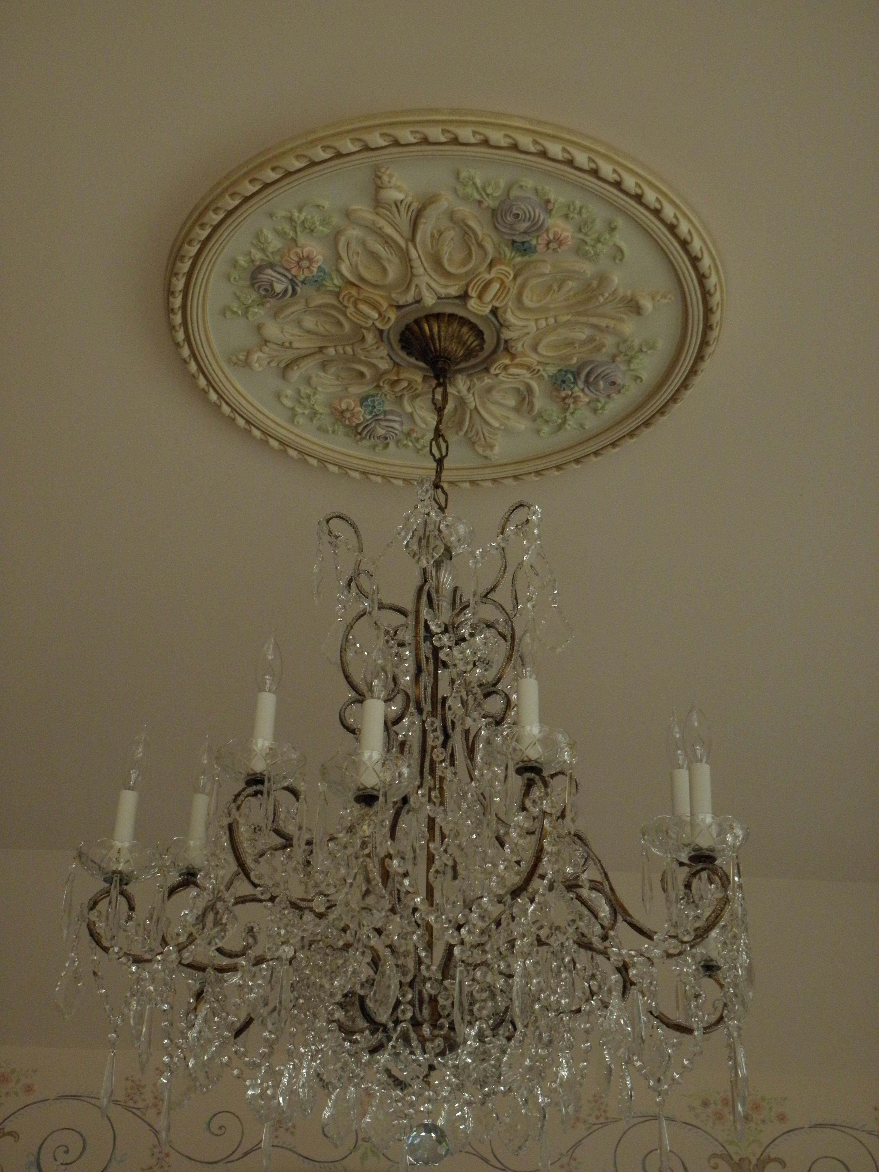 Hand Painted Ceiling Medallion Ceiling Medallions Painted Ceiling Shabby Chic Chandelier
