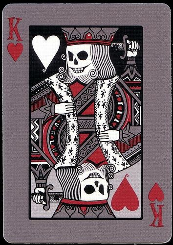 Tragic Royalty King Of Hearts Playing Cards Art Card Art Playing Cards Design