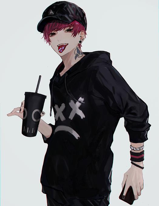 Hot Anime Boy Hoodie : anime, hoodie, Luyomi, Tasuki, Smoke, Anime, Drawings
