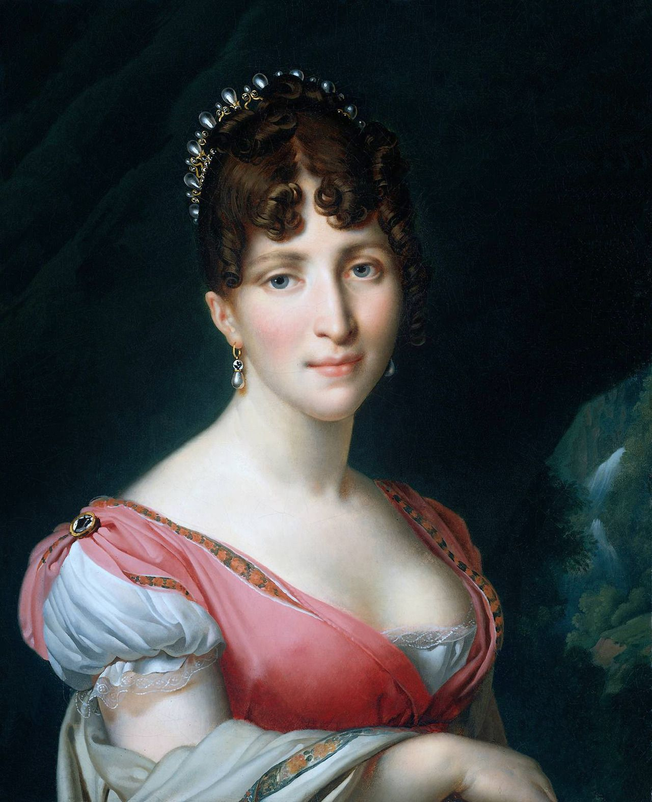 Hortense de Beauharnais (1808). Anne-Louis Girodet de Roucy-Triosson (French, 1767-1824). Oil on canvas. Rijksmuseum. Hortense Eugénie Cécile Bonaparte (née de Beauharnais, 1783–1837), Queen Consort of Holland, was the stepdaughter of Emperor Napoleon I, being the daughter of his first wife, Joséphine de Beauharnais. She later became the wife of the former's brother, Louis Bonaparte, King of Holland, and the mother of Napoleon III, Emperor of the French.