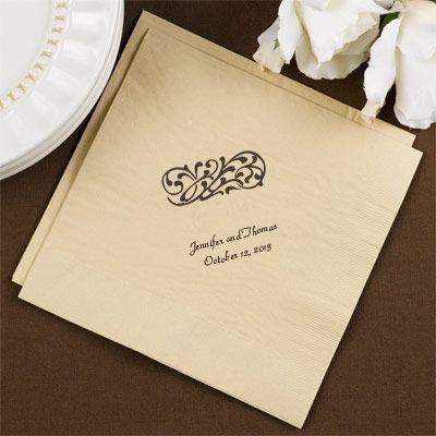 Weddings Sand Colored Napkins