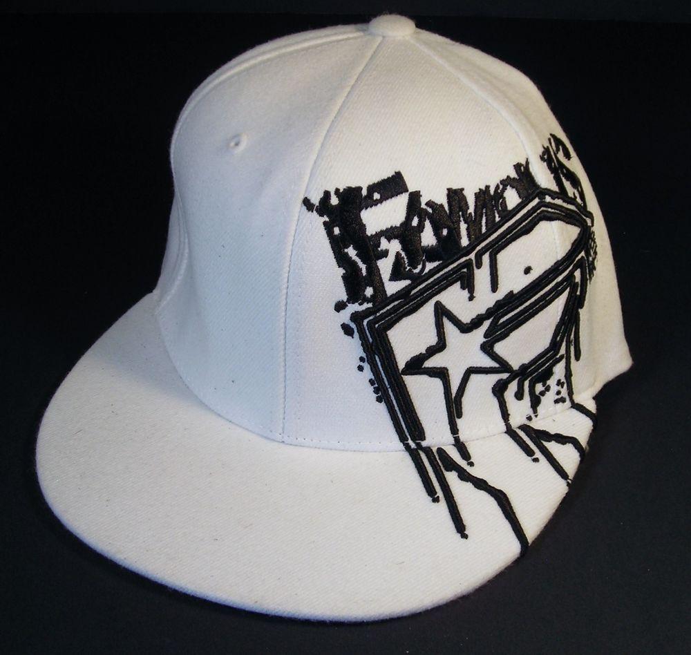 52f9f2a2744 Famous Stars and Straps White Fashion Trucker Cap Baseball Hat Flexfit S M  New  FamousStarsStraps  BaseballCap