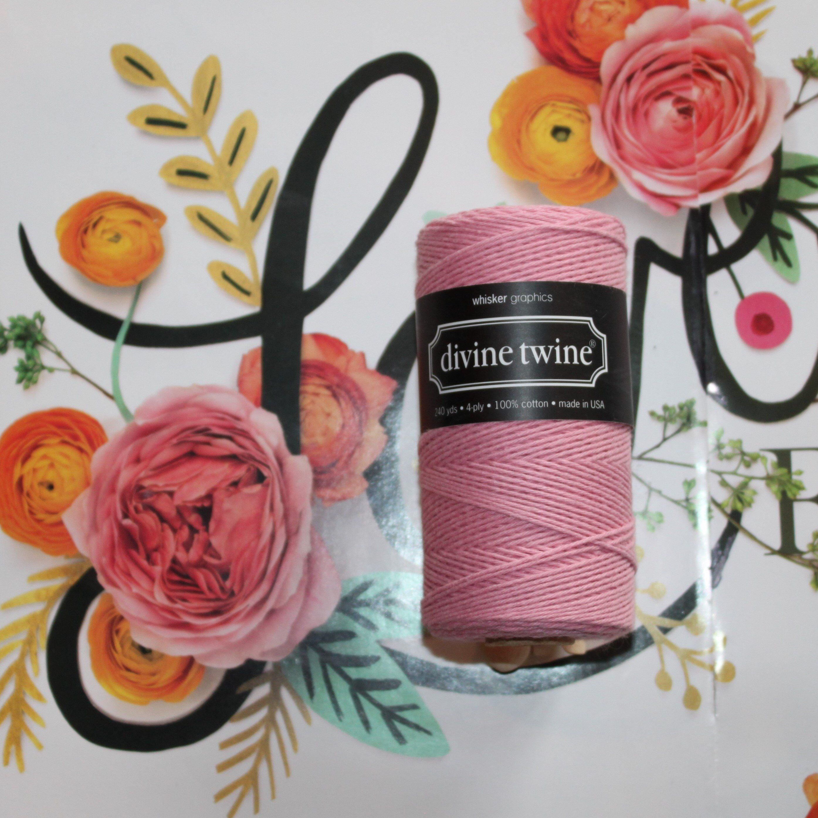 Lt. Pink Solid Divine Twine™ Collection, Bakers Twine