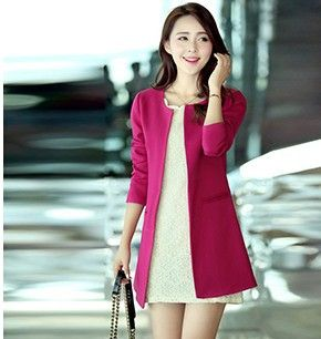 2014 NEW FREE SHIPPING Autumn and winter trench fashion slim medium-long plus size clothing style trench outerwear Women HR-0408 US $12.98