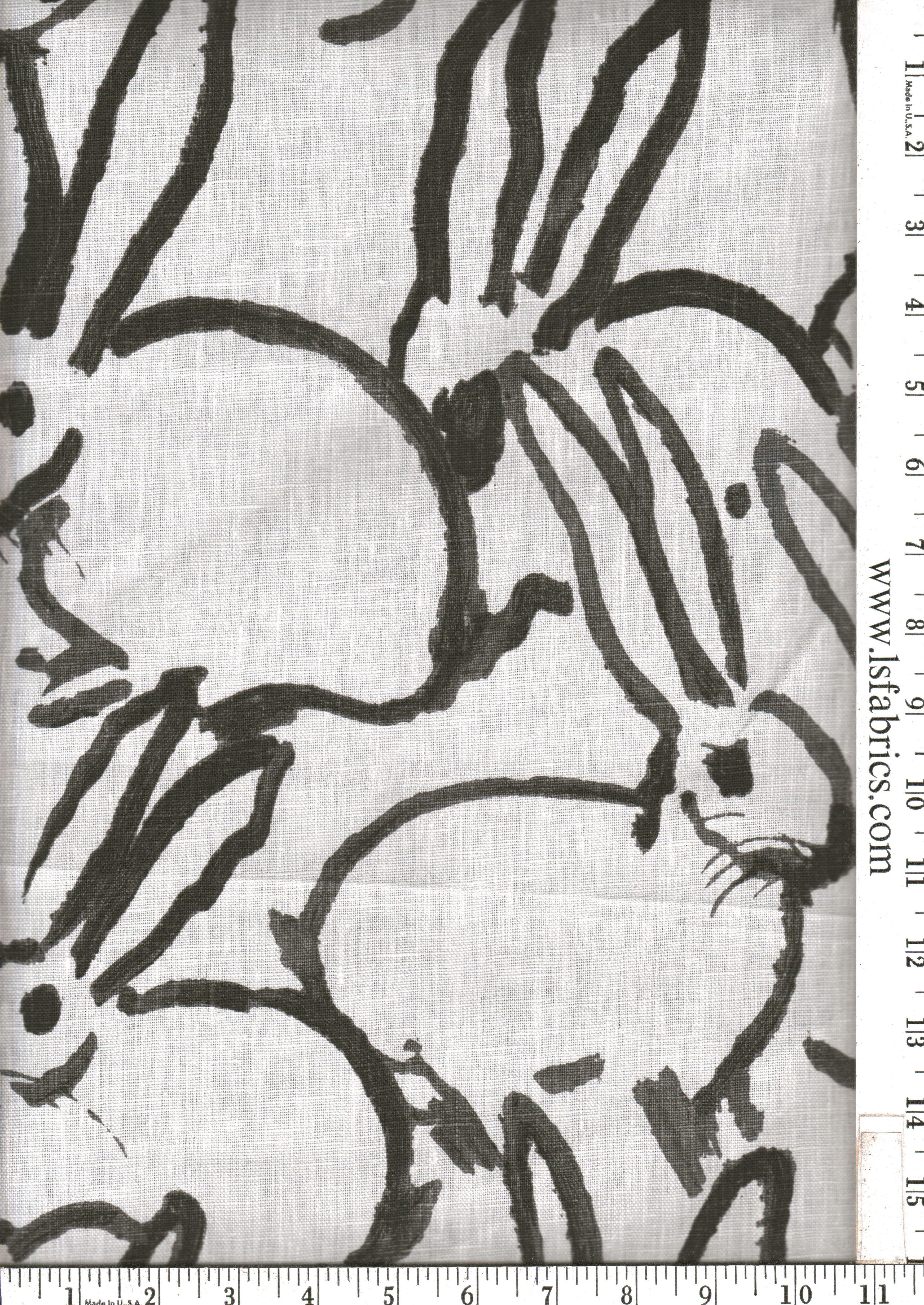 Hunt Slonem fabric 55/yard from Lsfabrics Bunny