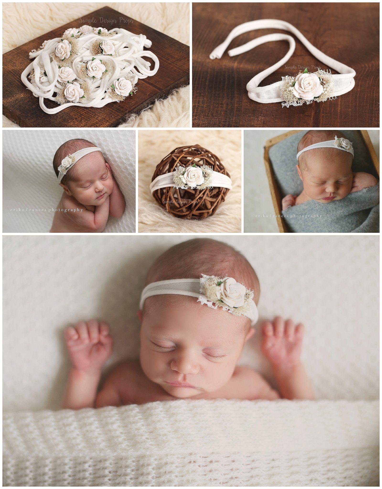 Baby Bows Newborn Headband Baby Photography props Newborn Photography props Baby Headbands Baby Headband Set
