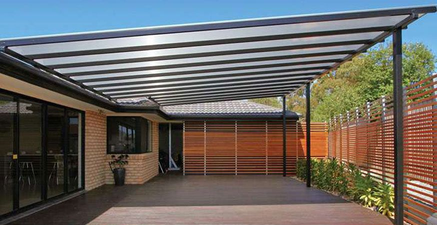 Polycarbonate Roof With Steel Frame Backyard Pergola