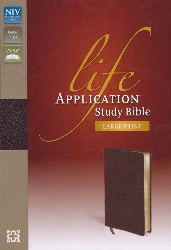 NIV Life Application Study Bible, Large Print, Bonded