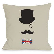 A British Gentleman Polyester Throw Pillow