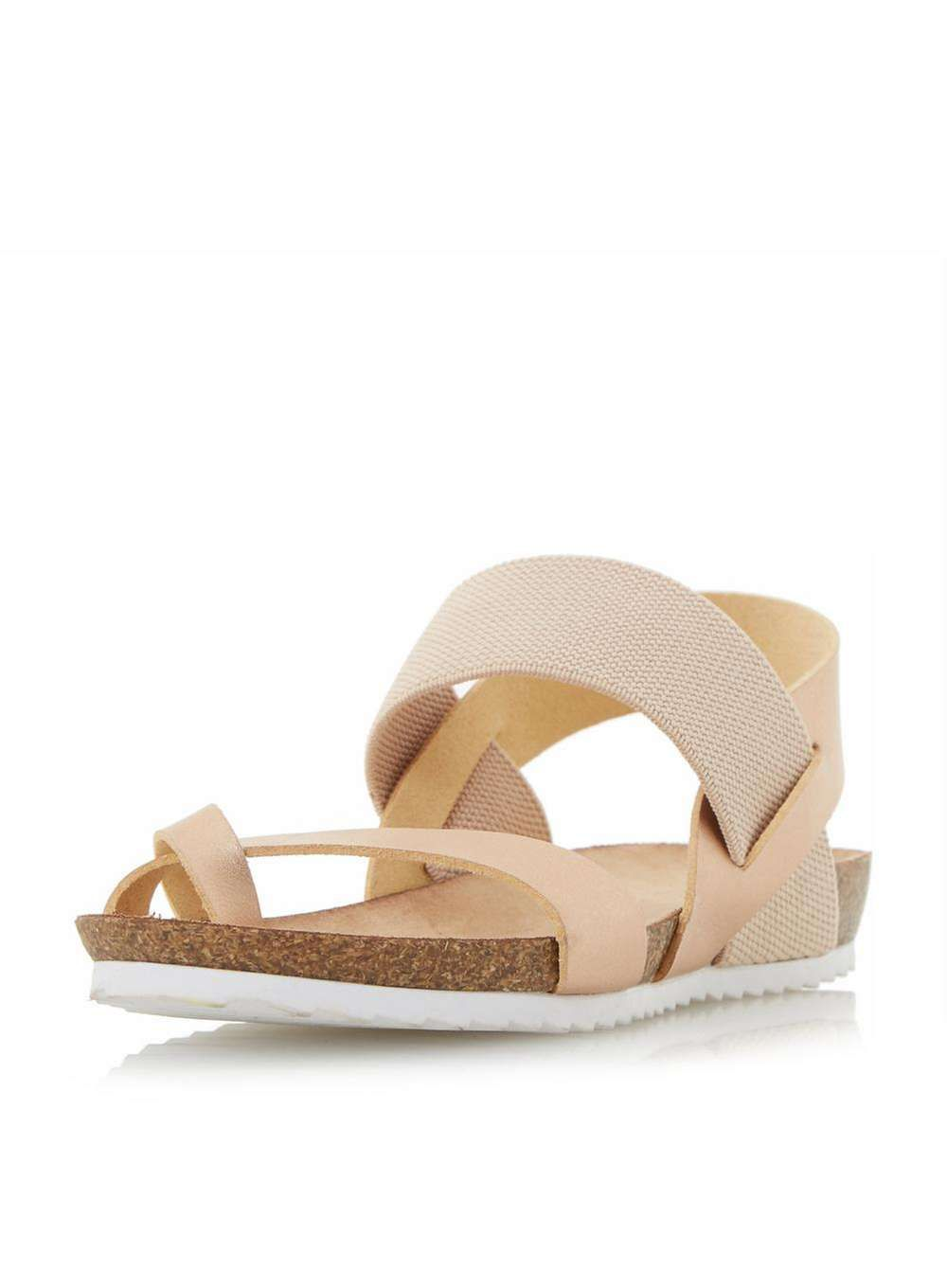 f723880d8 Womens  Head Over Heels by Dune Rose Gold  Laury  Flat Sandals- Rose