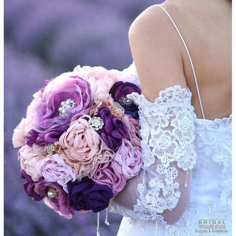 Bridal Bouquet Purple, Wedding Bouquet Roses, Bridal Bouquet Fabric, Brooch Bouquet, Wedding Bouquet, Wedding Bouquet Mauve, 1008 #bridalbouquetpurple
